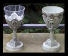 Castle goblets (for lack of a better word).