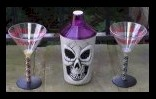 Gothini martini glasses and drink shaker.